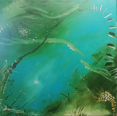 Meerestriptichon 2, 2019, 40 x 50 cm, Öl auf Leinwand