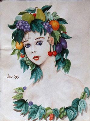 Ohne Titel, 1988, 21 x 30 cm, Aquarell auf Papier