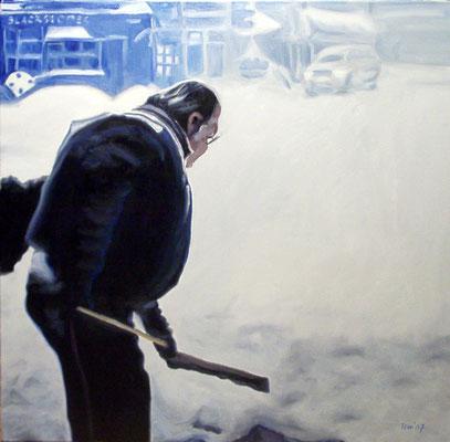 P 5, 2007, 80 x 80 cm, Öl auf Leinwand