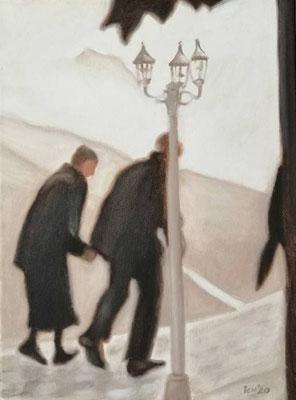 elderly people, 2020, 30 x 40 cm, Öl auf Leinwand