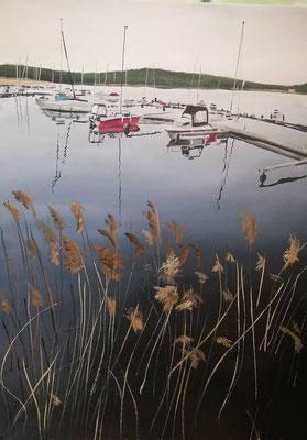 Marina Mücheln, 2019, 50 x 70 cm, ÖL auf Leinwand