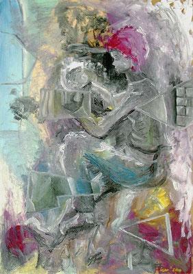 Erinnerungsstücke, 2000, 48 x 68 cm, Öl auf Hartfaser