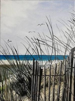 Strand-Gut, 2019, 30 x 40 cm, Öl auf Leinwand
