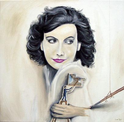 Ist die Illusion einer Illusion am Ende doch wahr?, 2005, 60 x 60 cm, Öl auf Leinwand