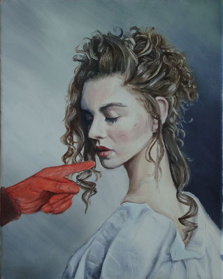 Die Hand, 2007, 40 x 30 cm, Öl auf Leinwand