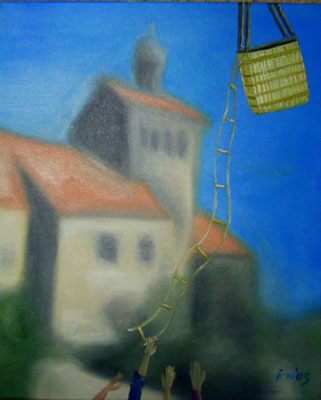 Heissluftspiel, 2005, 40 x 50 cm, Öl auf Leinwand