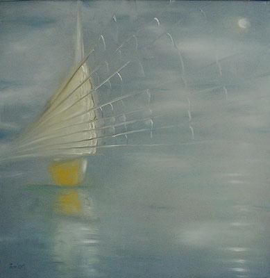 Dschunke, 2005, 60 x 60 cm, Öl auf Leinwand