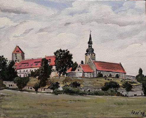 Burg Querfurt, 2018, 50 x 40 cm, Öl auf Leinwand