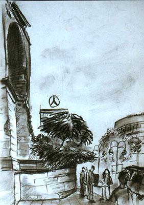 Berlin, 1998, 30 x 42, Kohle auf Papier