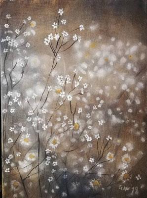 Kamille 1, 2019, 30 x 40 cm, Öl auf Leinwand