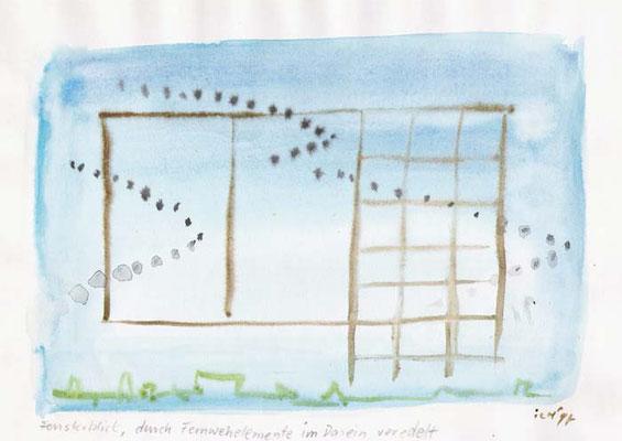 Fernwehelemente, 1997, 30 x 21 cm, Wasserfarbe auf Papier