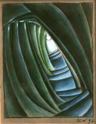 Hoffnung, 1997, 25 x 37 cm, Kreide auf Karton