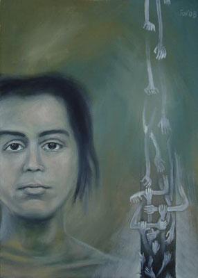Aversion, 2007, 50 x 70 cm, Öl auf Leinwand