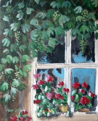 Fenster, 2005, 20 x 30 cm, Öl auf Leinwand