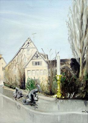 Der Bettler, 1998, 70 x 50 cm, Öl auf Druckplatte