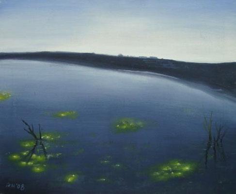 Lichtsee, 50 x 40 cm, Öl auf Leinwand