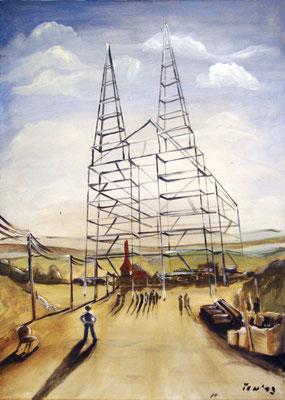 Die Erneuerung der Kirche, 2013, 50 x 70 cm, Öl auf Leinwand