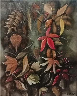 Farbspiel, 2020, 24 x 30 cm, Öl auf Leinwand