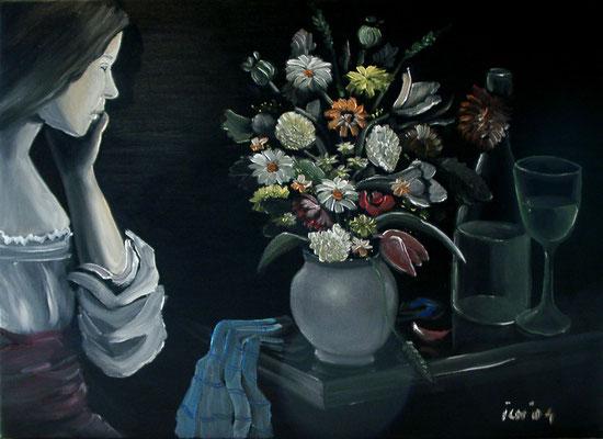 Die Überraschung, 2004, 70 x 50 cm, Öl auf Leinwand