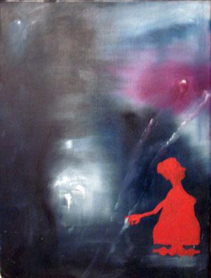 geradlinige Un-Sicht, 2007, 30 x 40 cm, Öl auf Leinwand