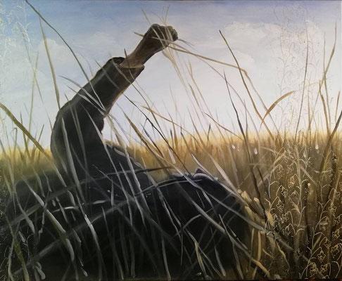 Wiesenduft, 2018, 130 x 100 cm, Öl auf Leinwand