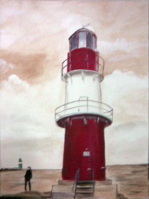 Leuchtturm in Wamü, 2008, 20 x 30 cm, Öl auf Leinwand