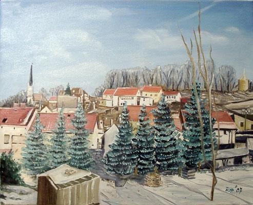Osterfeld, 2007, 40 x 30 cm, Öl auf Leinwand