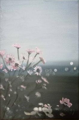 Blumenwiese, 2019, 20 x 30 cm, Öl auf Leinwand