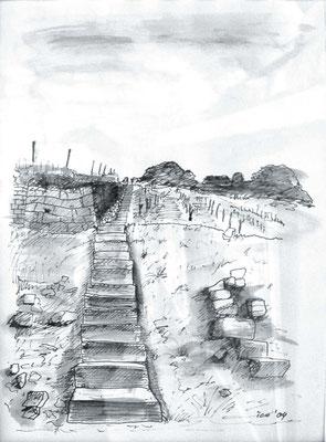 Weinberg, 2004, A4, Tusche auf Papier