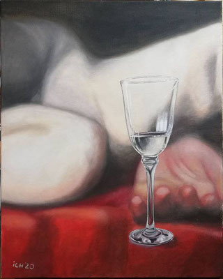 zerbrechlich, 2020, 50 x 60 cm, Öl auf Leinwand