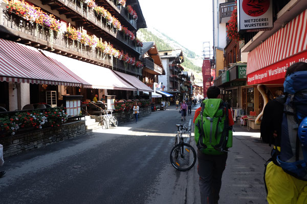 Back in civilization after 7 days: Zermatt