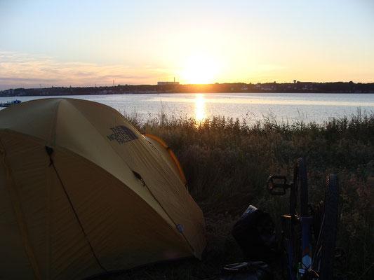 Primitive Camp close to the city Kolding