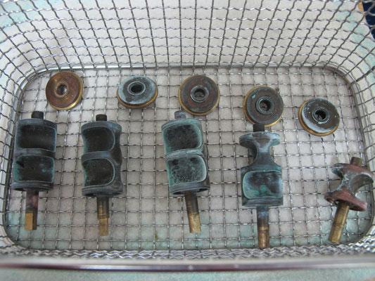 Zylinderventile Doppelhorn - vorher