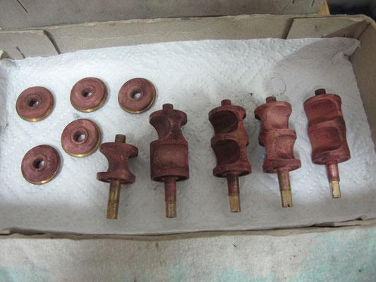 Zylinderventile Doppelhorn - nach der Reinigung