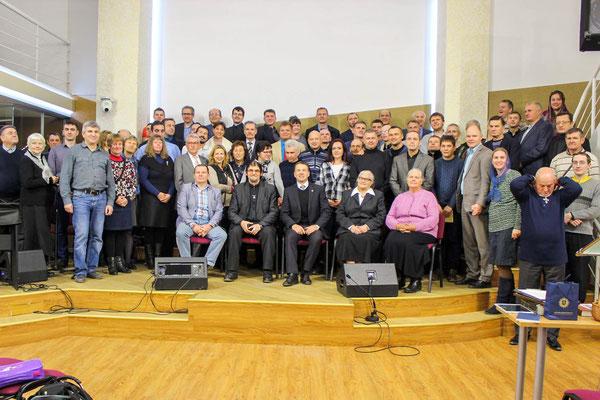 Gruppenbild der Gefängnis Volontäre aus dem Baltikum, Weissrussland und Ukraine