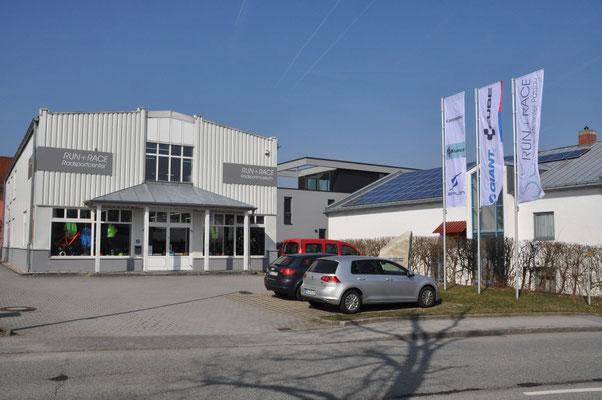 Das Radsportmuseum und das Radsportgeschäft in Patriching