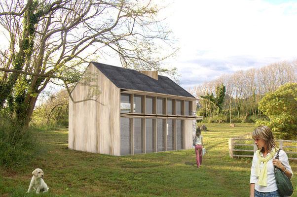 Render Arquitectura. Propuesta vivienda Pontevedra