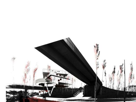 Render Arquitectura. 1ST Prize beca Studiobanana. PFC Carlos Martínez Pérez