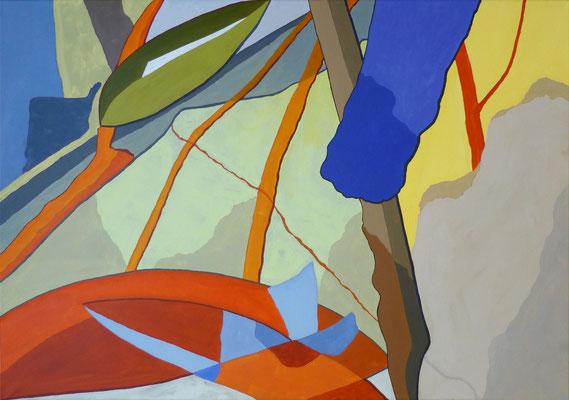 abstrakte Komposition, 75x100 cm, Acryl auf Leinwand, Fränkisches Urmeer