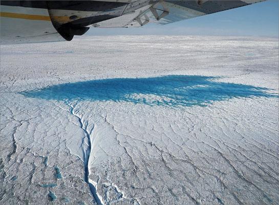Rundflug Kangia-Eisfjord Gletschersee