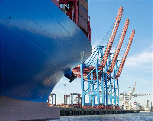 Containerterminal Toller Ort Containerschiff - COSCO SHIPPING ARIES