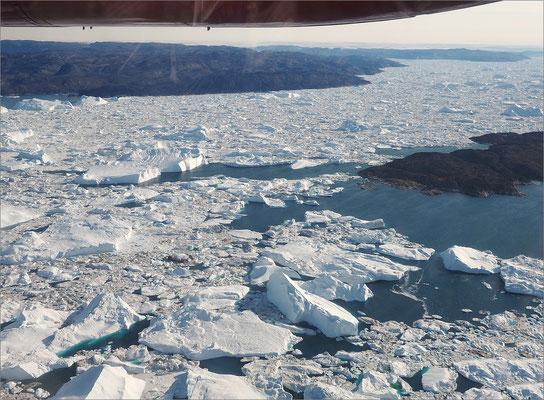 Ilulissat - Anflug auf Ilulissat