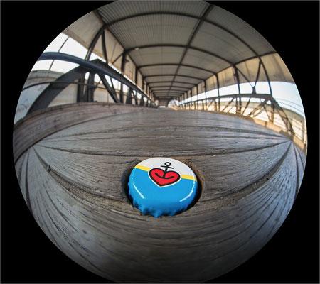 Überseebrücke Herzanker mit Circular Fisheye