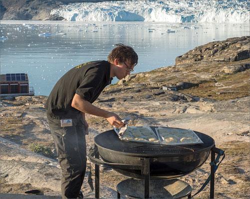 Eqi - Grillen mit Gletscher