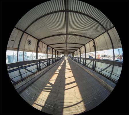 Überseebrücke mit Circular Fisheye