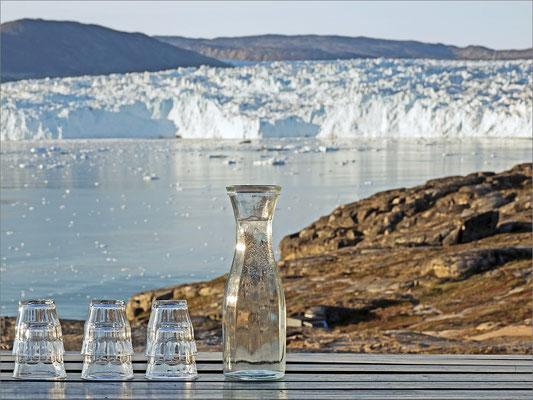 Eqi - Gletscher mit Wasser