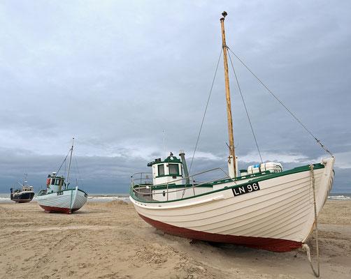 Løkken Strand - Fischerboote