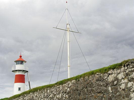Färöer Tórshavn - Skansin Leuchtturm