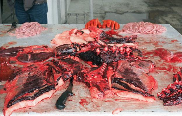 Aasiaat - Robbenfleisch