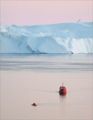 Ilulissat - Abendstimmung mit Eisbergen